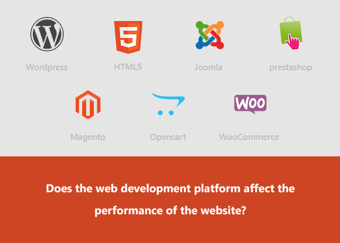 Does the web development platform affect the performance of the website?