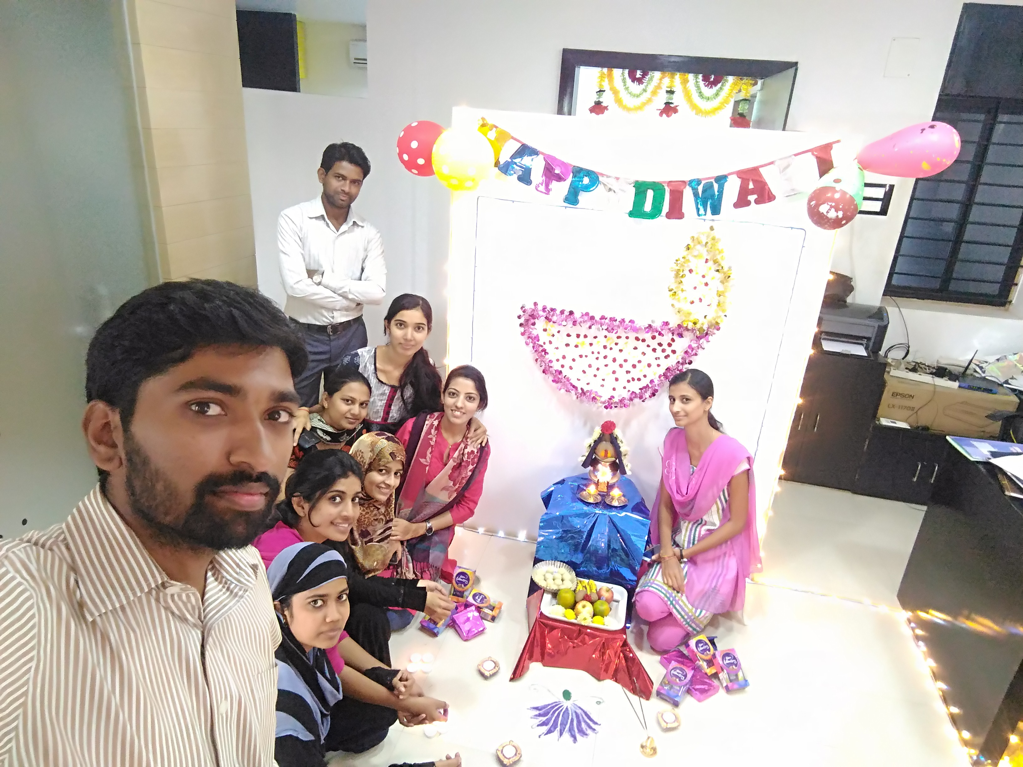 Diwali celebration in office