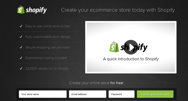 Shopify has CTAs