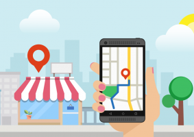 messaging business profiles on google map