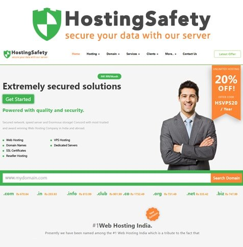 Web design for web hosting and domain registration