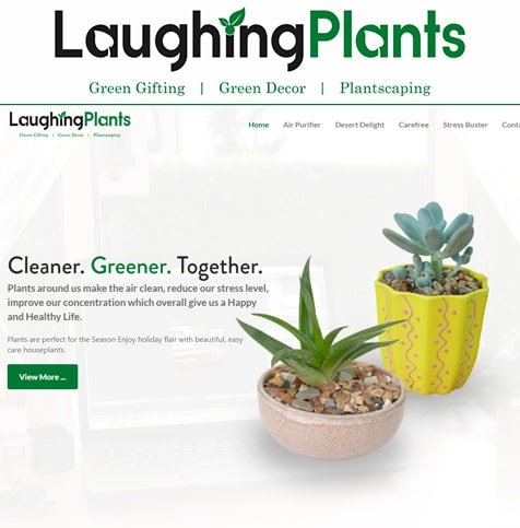 Ecommerce web design for plant selling firm